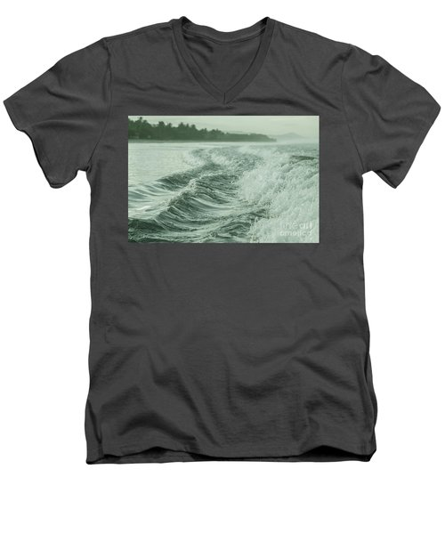 Forces Of The Ocean Men's V-Neck T-Shirt by Iris Greenwell