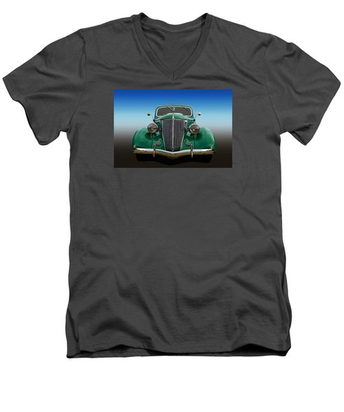 Men's V-Neck T-Shirt featuring the photograph Ford Coupe by Keith Hawley