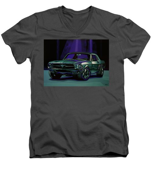 Ford Mustang 1967 Painting Men's V-Neck T-Shirt