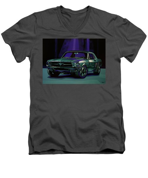 Ford Mustang 1967 Painting Men's V-Neck T-Shirt
