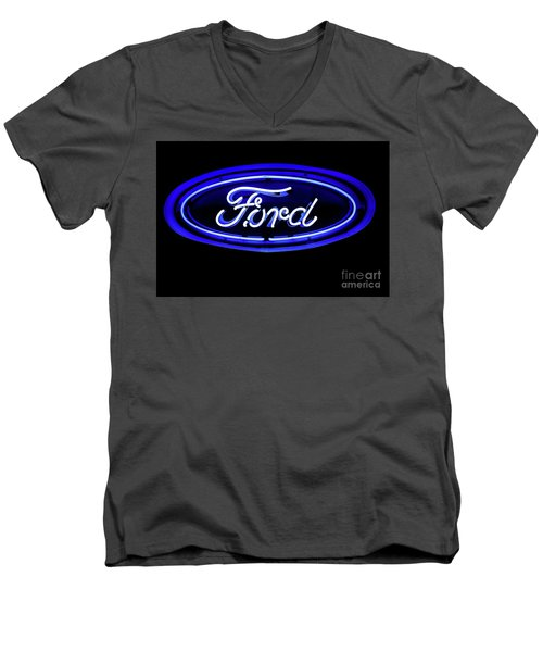 Ford Neon Sign Men's V-Neck T-Shirt