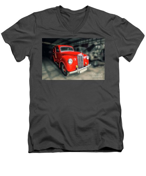 Men's V-Neck T-Shirt featuring the photograph Ford Prefect by Charuhas Images