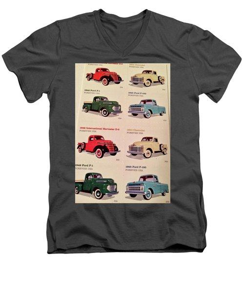 Ford Truck Stamps Men's V-Neck T-Shirt by Caroline Stella