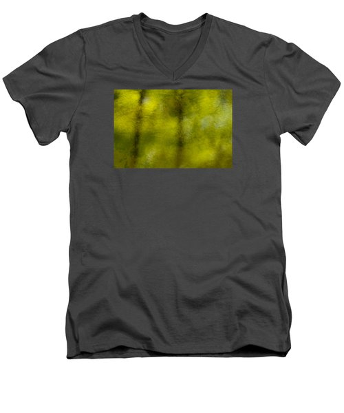 Forest Abstract Reflection Men's V-Neck T-Shirt