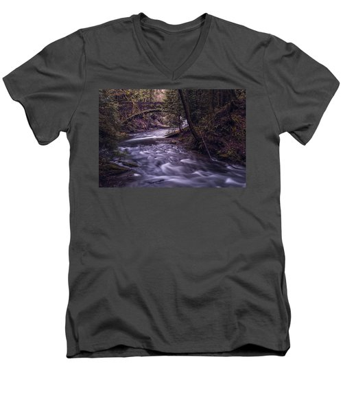 Forrest Bridge Men's V-Neck T-Shirt by Chris McKenna