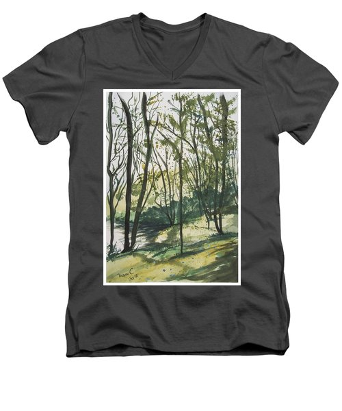 Forest By The Lake Men's V-Neck T-Shirt