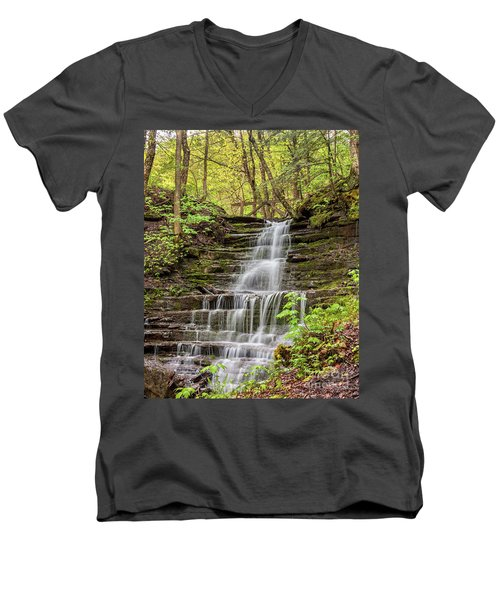 Forest Cascade Men's V-Neck T-Shirt