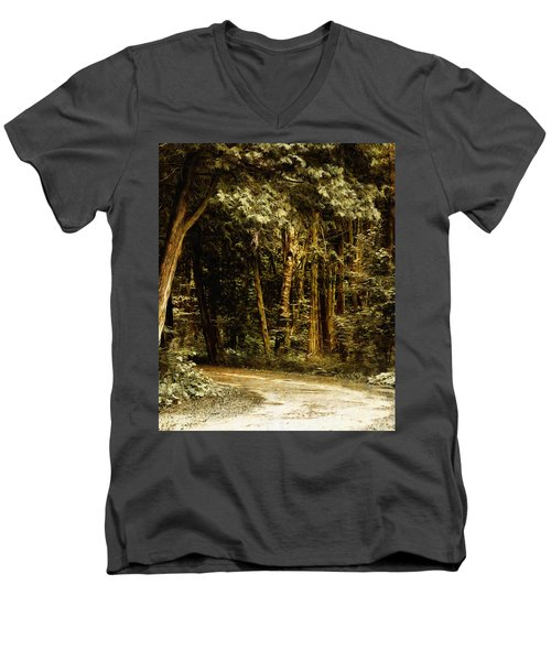 Forest Curve Men's V-Neck T-Shirt