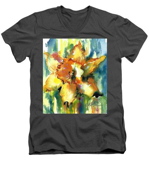 Forest Daffodil The Prayer Men's V-Neck T-Shirt