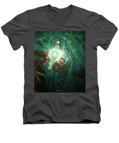 Forest Elf Men's V-Neck T-Shirt