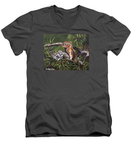 Forest Friend Men's V-Neck T-Shirt by Kim Lockman