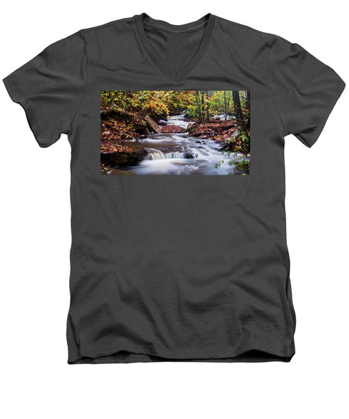 Men's V-Neck T-Shirt featuring the photograph Forest Gem by Parker Cunningham