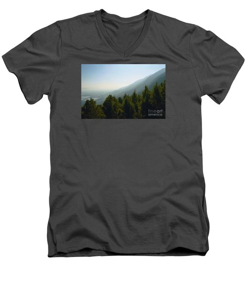 Forest In Israel Men's V-Neck T-Shirt by Gail Kent