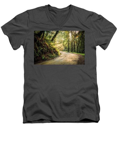 Forest Light Men's V-Neck T-Shirt