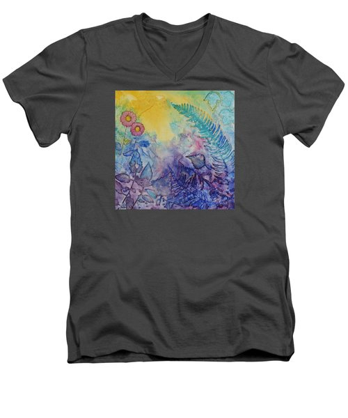 Forest Light Men's V-Neck T-Shirt by Nancy Jolley