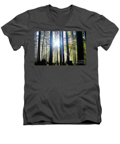 Forest Light Rays Men's V-Neck T-Shirt