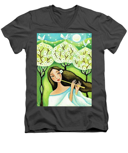 Forest Melody Men's V-Neck T-Shirt