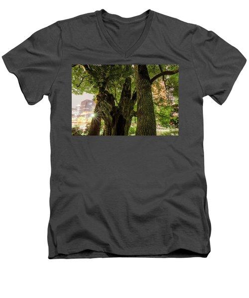 Men's V-Neck T-Shirt featuring the photograph Forest Of Tokyo by Tatsuya Atarashi
