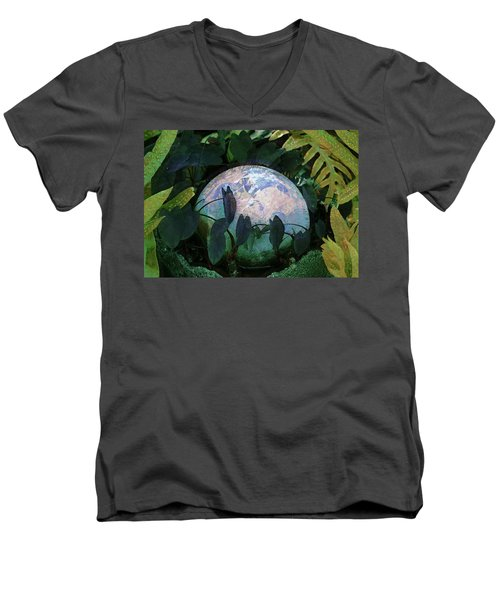 Forest Orb Men's V-Neck T-Shirt by Lori Seaman