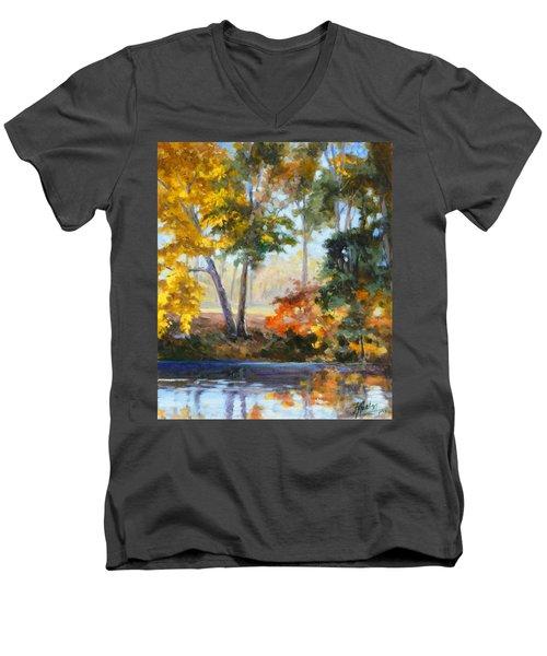 Forest Park - Autumn Reflections Men's V-Neck T-Shirt by Irek Szelag