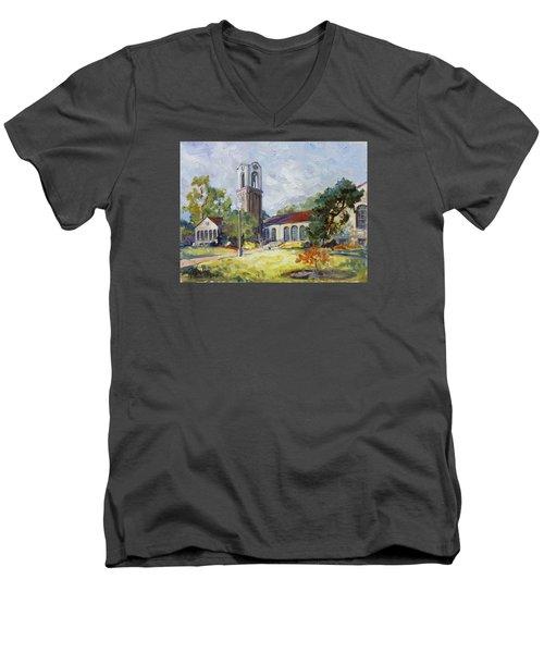 Forest Park Center - St. Louis Men's V-Neck T-Shirt by Irek Szelag