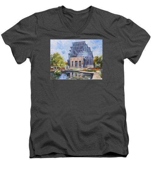 Forest Park - Jewel Box Saint Louis Men's V-Neck T-Shirt by Irek Szelag