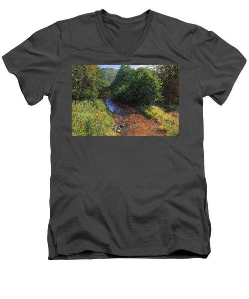 Forest River Summer Day Men's V-Neck T-Shirt