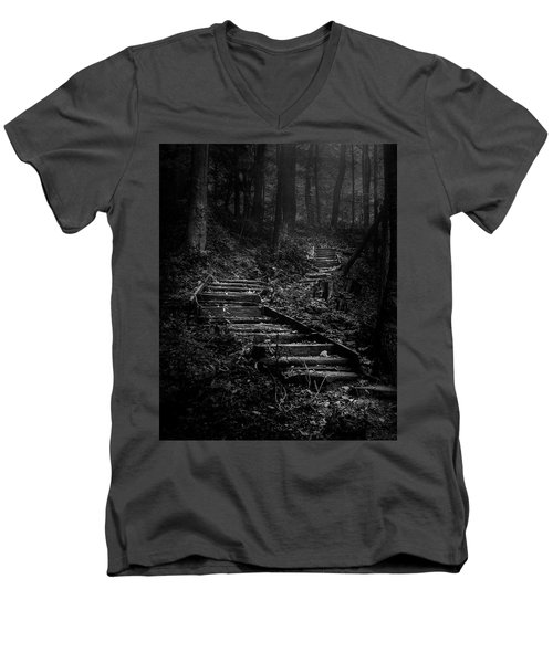 Forest Stairs Men's V-Neck T-Shirt