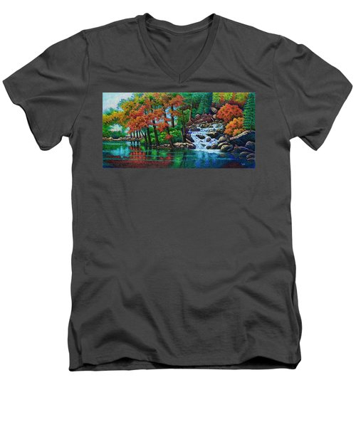 Forest Stream II Men's V-Neck T-Shirt