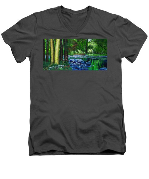 Forest Stream Men's V-Neck T-Shirt