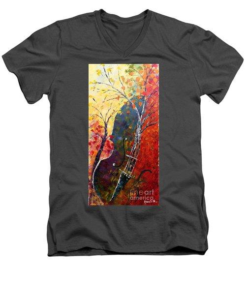 Forest Symphony Men's V-Neck T-Shirt by AmaS Art