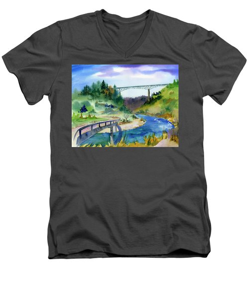 Foresthill Bridge #2 Men's V-Neck T-Shirt
