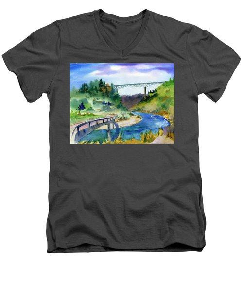 Foresthill Bridge #2 Men's V-Neck T-Shirt
