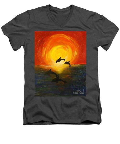 Forever Friends Men's V-Neck T-Shirt