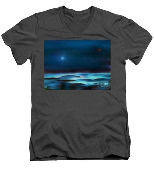 Wishing Men's V-Neck T-Shirt by Yul Olaivar
