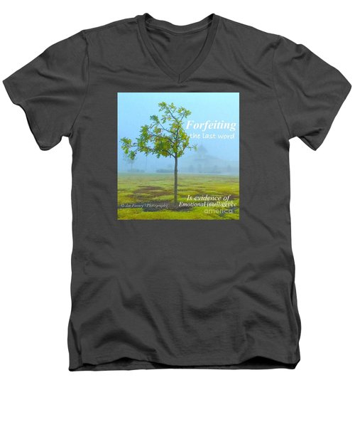 Men's V-Neck T-Shirt featuring the photograph Forfeiting Last Word - No.2015 by Joe Finney