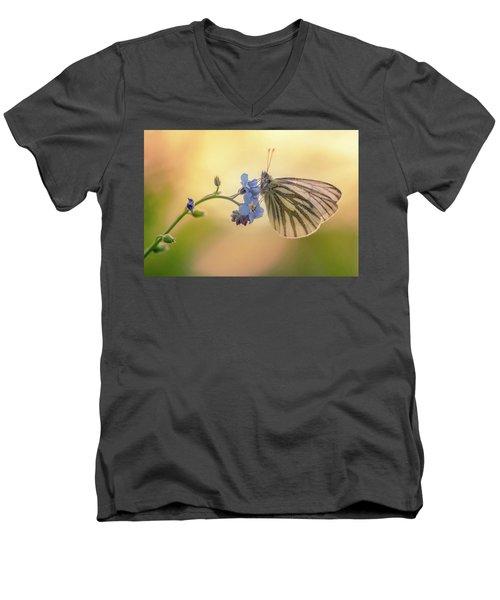 Forget Me Not Men's V-Neck T-Shirt by Jaroslaw Blaminsky