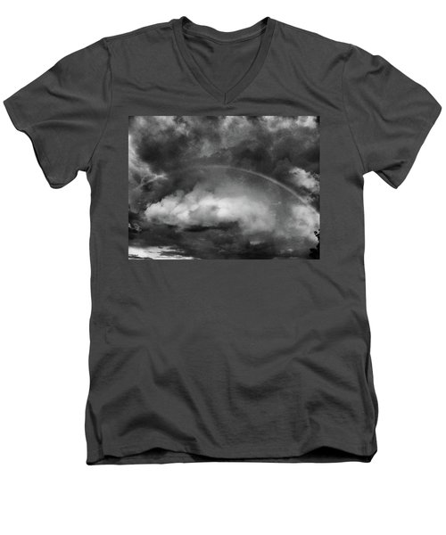 Men's V-Neck T-Shirt featuring the photograph Forgiven by Steven Huszar