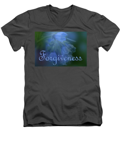 Forgiveness Blue Bells Men's V-Neck T-Shirt