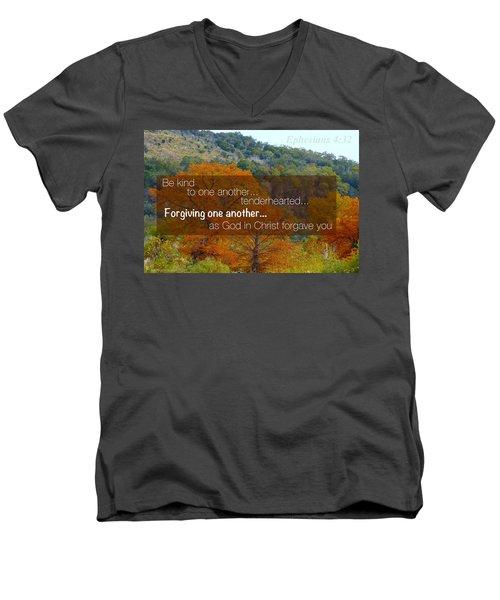 Forgiveness1 Men's V-Neck T-Shirt by David Norman