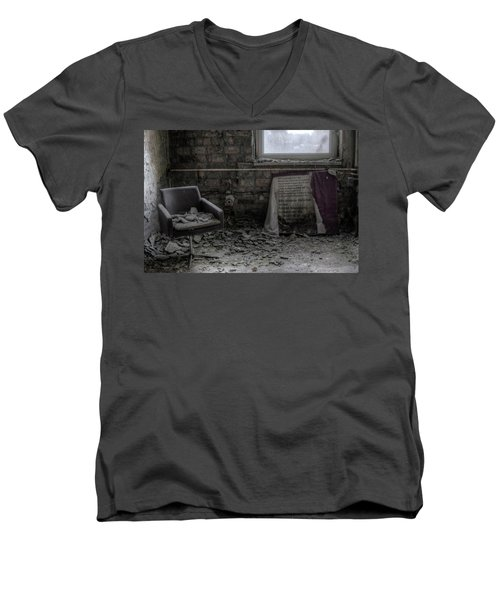 Men's V-Neck T-Shirt featuring the digital art Forgotten Ideologies by Nathan Wright