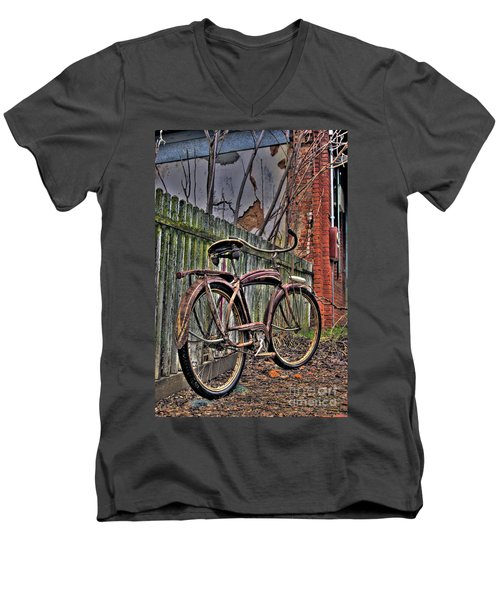 Men's V-Neck T-Shirt featuring the photograph Forgotten Ride 2 by Jim and Emily Bush