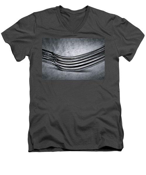 Forks - Antique Look Men's V-Neck T-Shirt