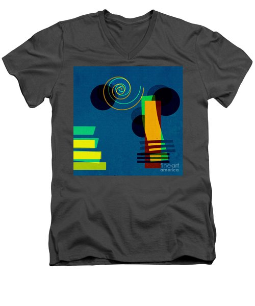 Formes - 03b Men's V-Neck T-Shirt by Variance Collections