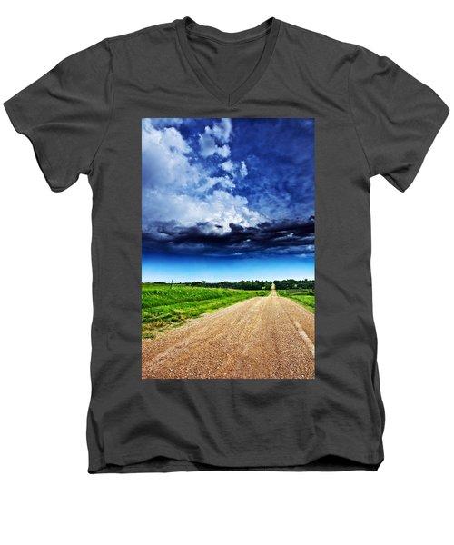 Forming Clouds Over Gravel Men's V-Neck T-Shirt