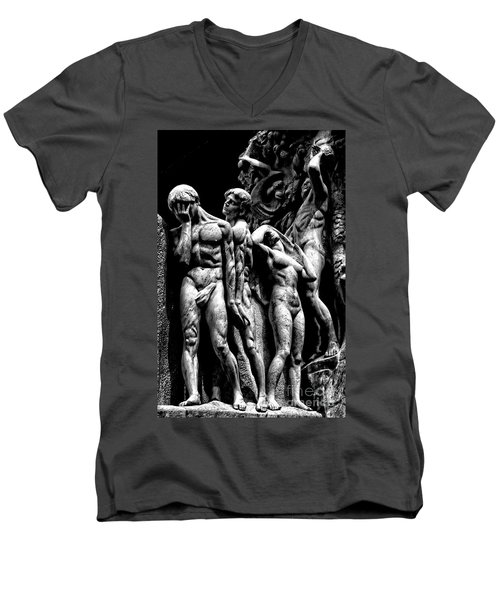 Men's V-Neck T-Shirt featuring the photograph Forms In Marble by Paul W Faust - Impressions of Light