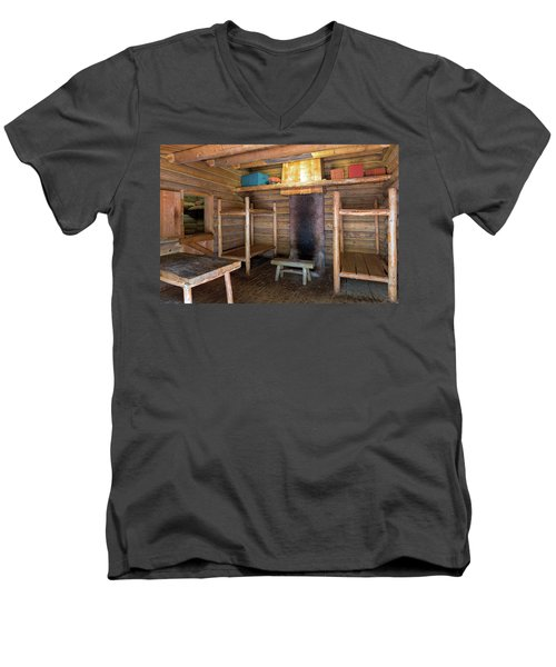 Fort Clatsop Living Quarters Men's V-Neck T-Shirt