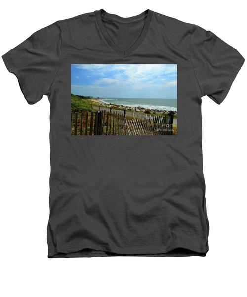 Fort Fisher Beach Men's V-Neck T-Shirt