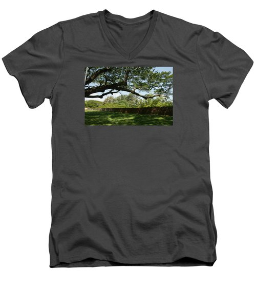 Men's V-Neck T-Shirt featuring the photograph Fort Galle by Christian Zesewitz