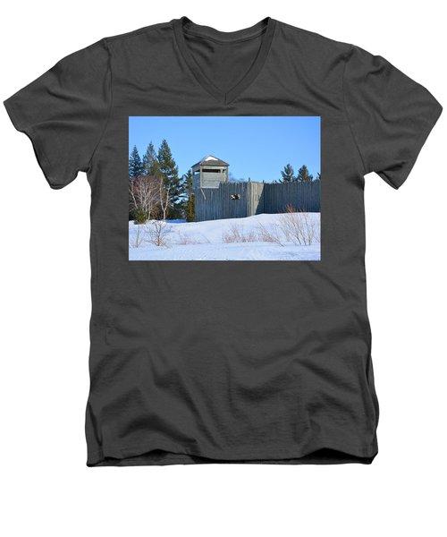 Fort Michilimackinac Northeast Blockhouse Men's V-Neck T-Shirt